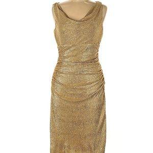 Lauren by Ralph Lauren Gold Cocktail Dress NWT